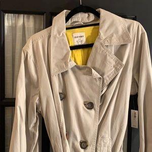 Tan Old Navy trench coat